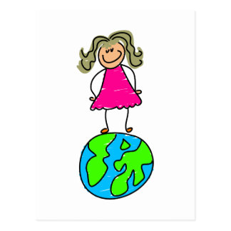 Globe Kid Postcard