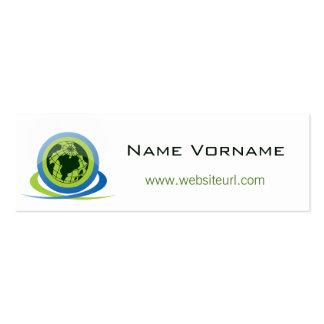 globe mini business card