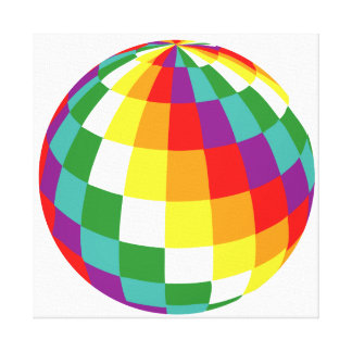 Globe of Colors Canvas Print