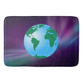 GLOBE OF EARTH BATH MAT