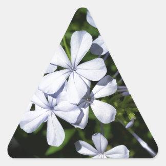 Globe of flowers triangle sticker