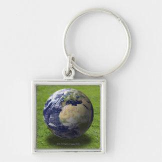 Globe on lawn 2 keychains