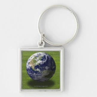 Globe on lawn 4 key chain