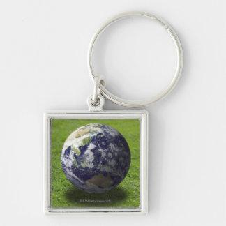 Globe on lawn keychains