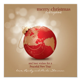 Globe Ornament Holiday Card