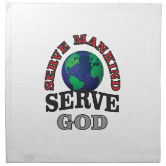globe serve god and mankind napkin