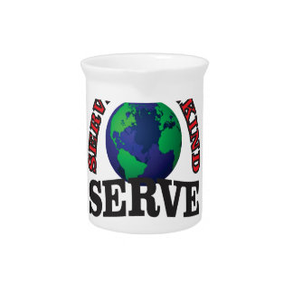globe serve god and mankind pitcher
