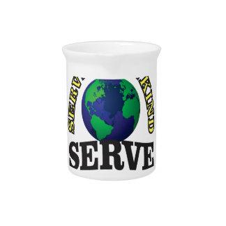 globe service to god and man pitcher
