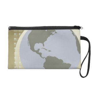 Globe Showing Americas Wristlet Clutches