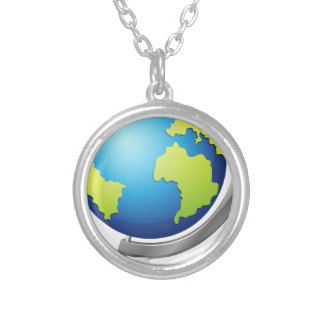 Globe Silver Plated Necklace