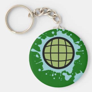 Globe Splotch. Keychain