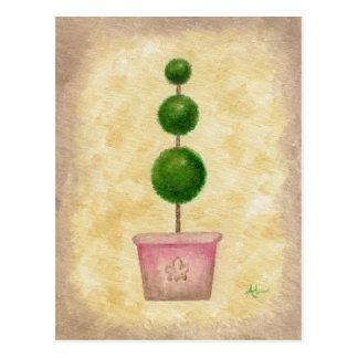 Globe Topiary postcard