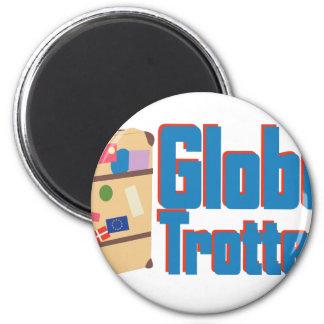 Globe Trotter 2 Inch Round Magnet