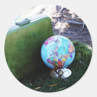 Globe Trotter Round Sticker