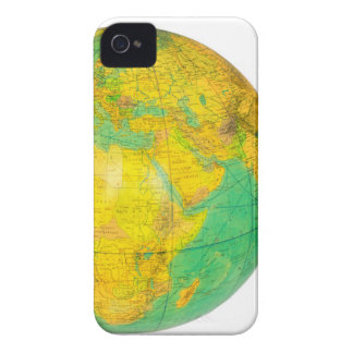 Globe with planet earth isolated on white Case-Mate iPhone 4 cases