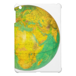 Globe with planet earth isolated on white cover for the iPad mini