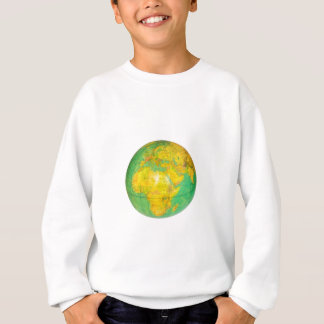 Globe with planet earth isolated on white sweatshirt