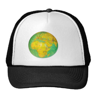 Globe with planet earth isolated on white trucker hat