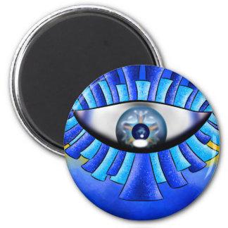 Globellinossa V1 - triple eyes 2 Inch Round Magnet