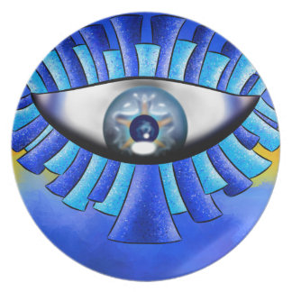 Globellinossa V1 - triple eyes Dinner Plates