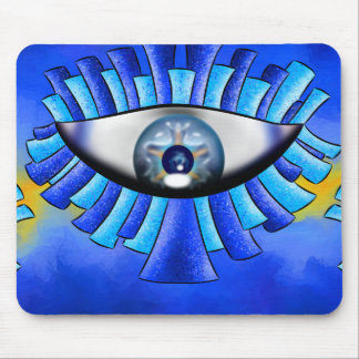 Globellinossa V1 - triple eyes Mouse Pad