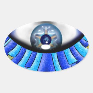 Globellinossa V1 - triple eyes Oval Sticker