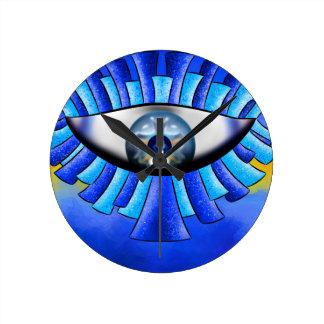 Globellinossa V1 - triple eyes Round Clock