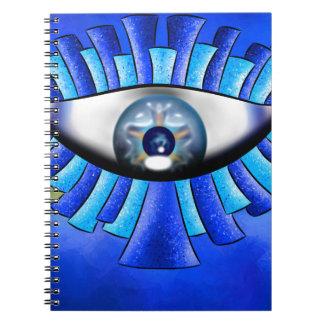 Globellinossa V1 - triple eyes Spiral Notebooks
