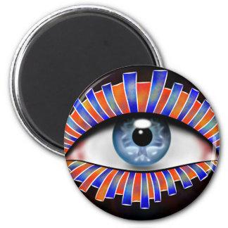 Globellium V1 - an eye on you 2 Inch Round Magnet