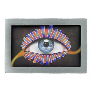 Globellium V1 - an eye on you Rectangular Belt Buckles