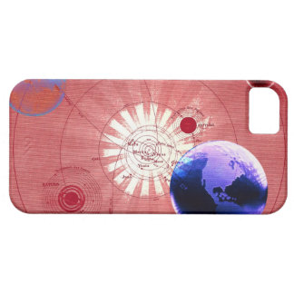 Globes with map of universe iPhone 5 covers
