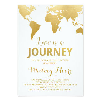 Globetrotter Glam Bridal Shower Invitation