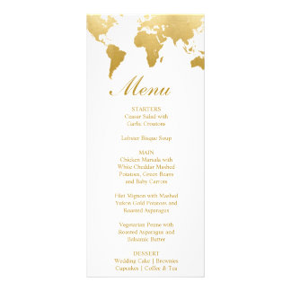 Globetrotter Glam Wedding Menu Card