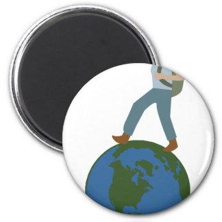 Globetrotter Plan 2 Inch Round Magnet