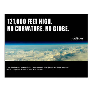 #GLOBEXIT CKMT CARD (Flat Earth 2017 Collection) Postcard