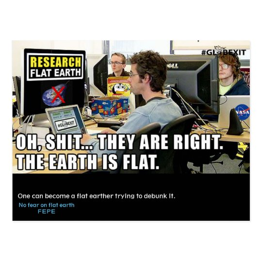 #GLOBEXIT RFE CARD (Flat Earth 2017 Collection)