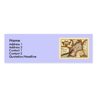 """Glocestershire"" Gloucestershire County Map Mini Business Card"