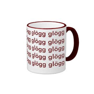 Glogg Glogg Glogg Funny Scandinavian Ringer Mug