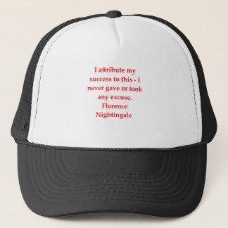 glorence nighitngale trucker hat
