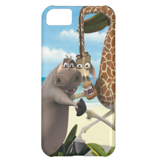 Gloria and Melman Hand Holding Case For iPhone 5C