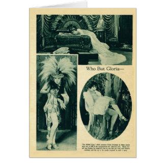 Gloria Swanson 1922 vintage portraits card