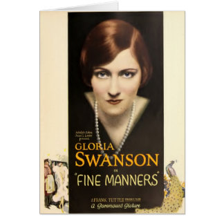 Gloria Swanson 1926 silent movie exhibitor ad Card