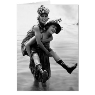 Gloria Swanson and Phyllis Haver Card