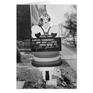 Glorified Hamburgers - 1938 Greeting Card