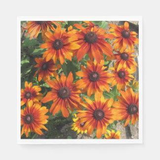 Gloriosa Daisies Rustic Colors Paper Napkin