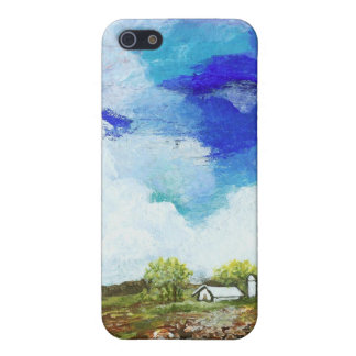 Glorious Abstract Landscape Art Farm Barn House iPhone 5/5S Covers