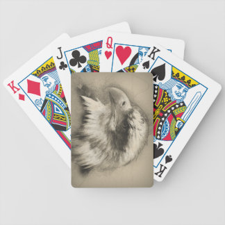 Glorious Bald Eagle Setch Bicycle Playing Cards