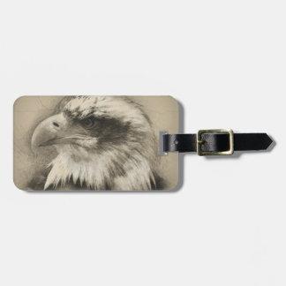 Glorious Bald Eagle Setch Luggage Tag