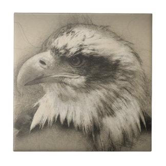 Glorious Bald Eagle Setch Tile