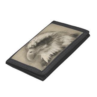 Glorious Bald Eagle Setch Tri-fold Wallets